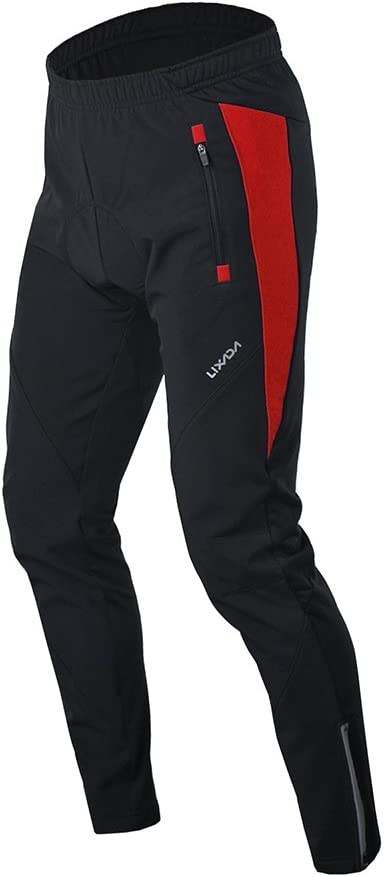 Lixada Pantaloni con Cuscino Imbottito Uomo Ciclismo Traspirante Confortevole Invernali