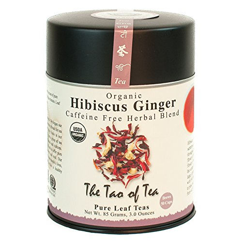 The Tao of Tea, Hibiscus Ginger Tea, Loose Leaf, 3.0 Ounce Tin to make 50 ()