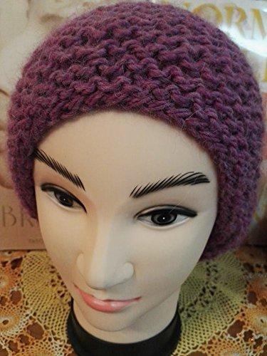 up-to-date styling negozio del Regno Unito nuovo stile di vita Cappello donna lungo ai ferri color Ametista: Amazon.it ...