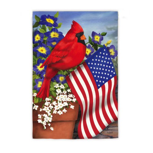 Evergreen Cardinal Glory Double-Sided Suede Garden Flag - 12