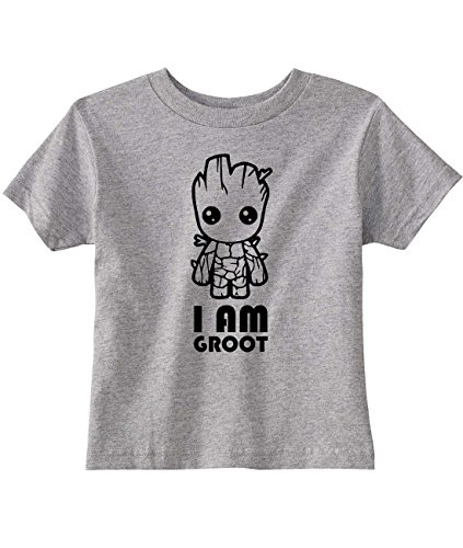 Ilion Clothing Co. Guardians Of The Galaxy Toddler I am Groot T-Shirt (5/6T, Heather Grey)