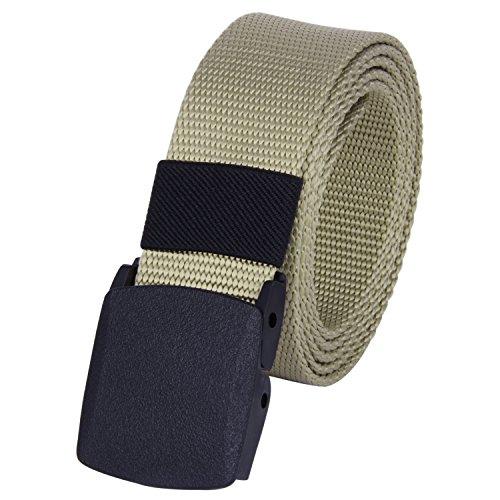 Canvas Classic Belt (ROFIFY Mens Nylon Canvas Military Tactical Style Belt Plastic Buckle Web Belts 53