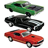 (Set of 3) Legendary 1969 Muscle Car 1/32 Die Cast Models Ford Chevy Dodge