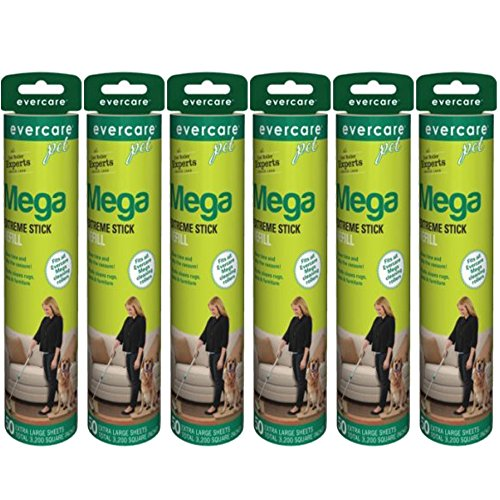 Evercare Pet Mega Roller 50-Layer Refill, 6-Pack
