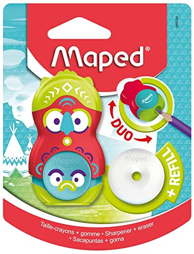Maped Loopy Duo - Sacapuntas 2 en 1, ideal para estuche ...