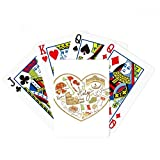 Italy Heart Roman Theater National Flag Poker Playing Cards Tabletop Game Gift