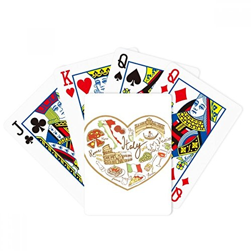 Italy Heart Roman Theater National Flag Poker Playing Cards Tabletop Game Gift by beatChong