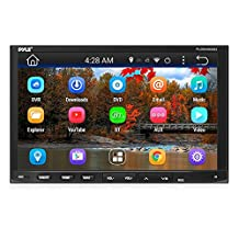 "Pyle PLDNAND692 Android Car Stereo Double Din Receiver WIFI 7"" Touchscreen Bluetooth, DVD Navigation USB/SD Reader"