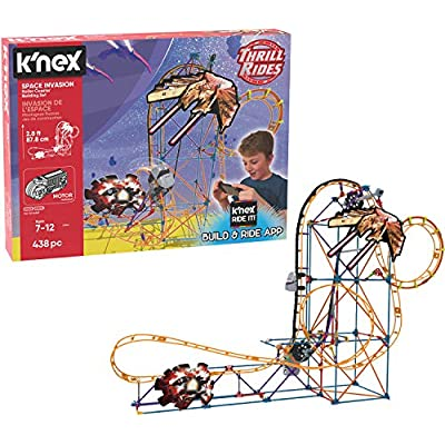 K'NEX Thrill Rides – Space Invasion Roller Coaster Building Set with Ride It! App – 438Piece – Ages 7+ Building Set.: Toys & Games