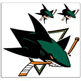 Trademarx RL_SHAR San Jose Sharks 2 x 2-Feet Peel-N-Stick Applique