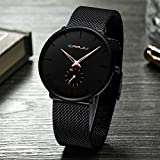 Chirpa 30 Meter Waterproofing Super Thin Men's Business Watch Black Leisure Wristwatch