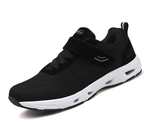 afca162b751 Scennek Men s and Women s Middle-Aged Velcro Sneakers Multi-Sports Running  Fitness Shoes