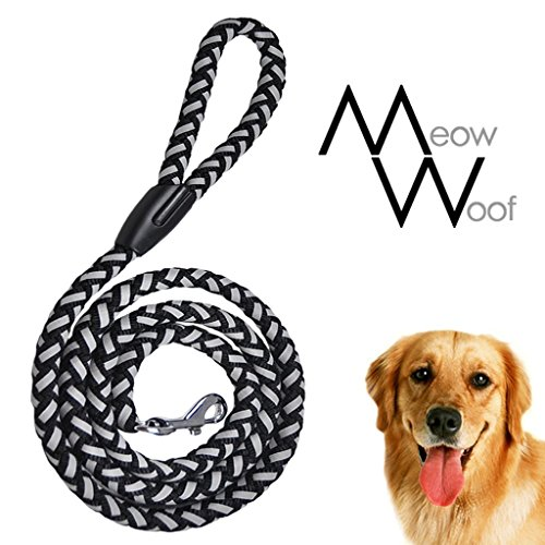 - Night Bright 6 Feet Reflective Dog Lead, Black