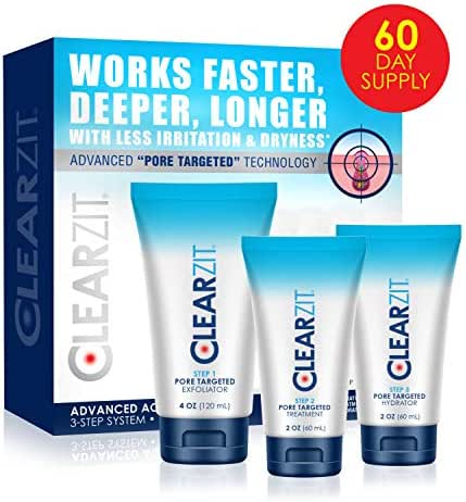 Clear Zit Acne Treatment Kit, 3 Step Pore Targeting System