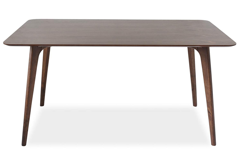 Edloe Finch EF-AMZ-DT005 Mid-Century Modern Dining Table, 60 inch 59'' W x 35'' D x 30'' H Walnut by Edloe Finch
