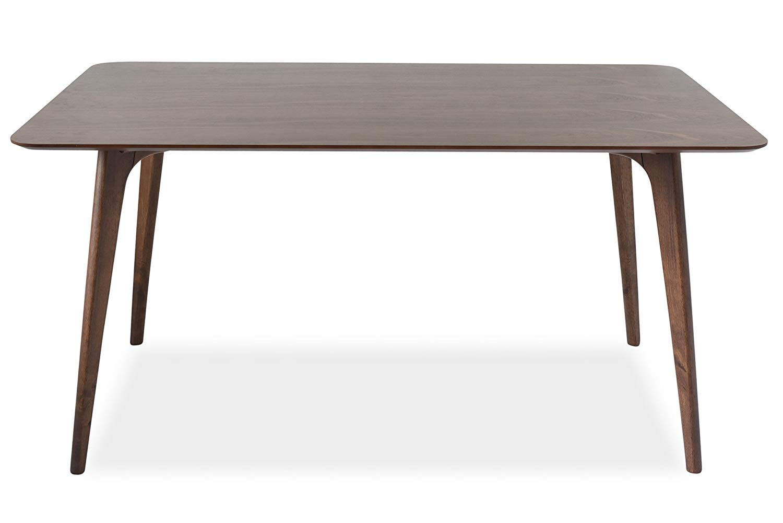Edloe Finch EF-AMZ-DT005 Mid-Century Modern Dining Table, 60 inch 59'' W x 35'' D x 30'' H Walnut