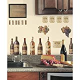 grape decorations set - RoomMates RMK1257SCS Wine Tasting Peel & Stick Wall Decals