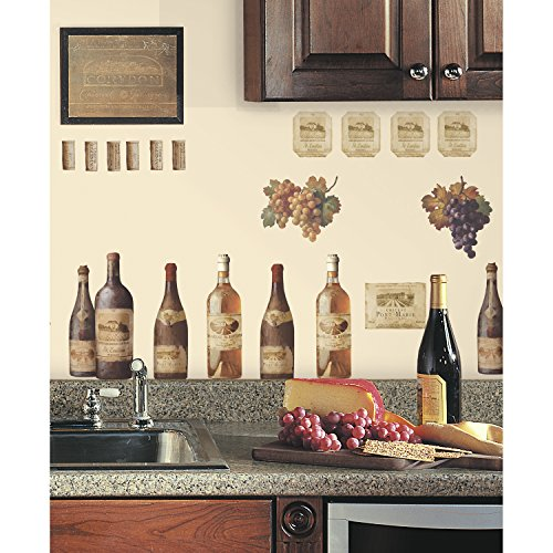 Roommates Rmk1257scs Wine Tasting Peel Stick Wall Decals