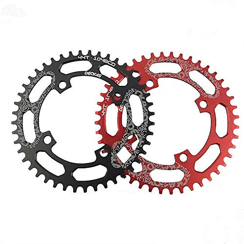 - COOLOH Single Chainring 40T 104 BCD Bike Narrow Wide Chainrings, Perfect for Most Bicycle Road Bike Mountain Bike MTB Track Fixed-Gear Bicycle (Round, Black)