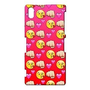 Sony Xperia Z2 Emoji Face Cover Case,Cute Popular Emojis Pattern 3D Hard Phone Case Snap on Sony Xperia Z2