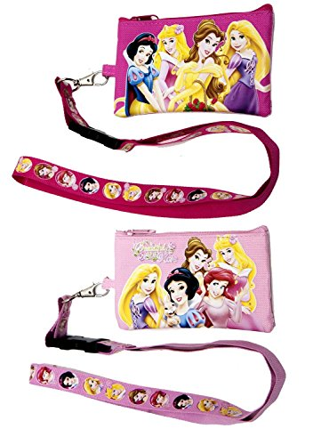 Disney Princess (Set of 2) Lanyards with Detachable Coin Purse