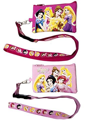 Disney Princess Lanyards Detachable Purse