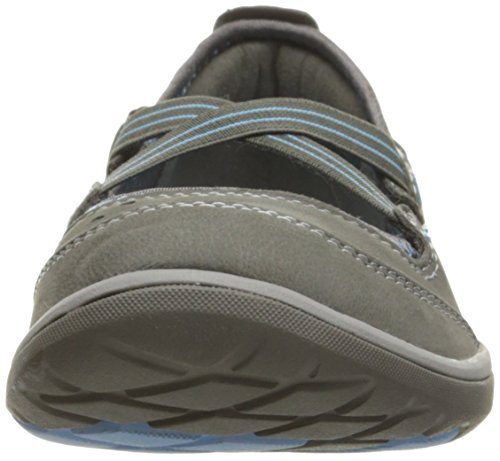 Clarks Women's Aria Mary Jane Flat Dark Grey Nubuck 37bqnlFw