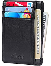 Slim Wallet RFID Front Pocket Wallet Minimalist Secure...