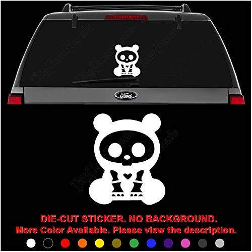 Cute Skelanimal Chungkee The Panda Die Cut Vinyl Decal Sticker for Car Truck Motorcycle Vehicle Window Bumper Wall Decor Laptop Helmet Size- [10 inch] / [25 cm] Tall || Color- - Skelanimals Panda Chungkee