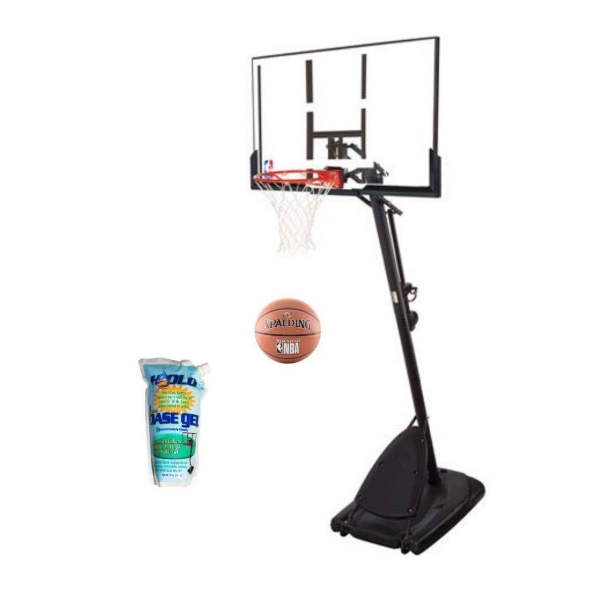 Spalding Pro Slam Portable NBA 54'' Angled Pole Backboard Basketball System with Basegel and 29.5 Super Tack