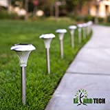 Outdoor Home Lighting Pack of 10 Solar Garden Path Lights- For Driveways, Pathways, Lawns Backyards and Pool Perimeters