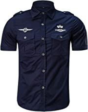 Camisetas Hombre Manga Corta Amlaiworld Camisa de Trabajo Hombres Moda  Camisas Casual para Hombres Militares Color 1b634e1ad5d