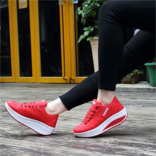 Marche Chaussures Taille Compensées Sport Respirantes Sneakers 35 de Mailles Femme de 42 Plateforme Léger Baskets rrv71wqnx