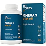 Dr Tobias Omega 3 Fish Oil Triple Strength, 2,000mg, Burpless, Non-GMO, NSF-Certified, 180 Counts: more info