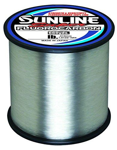Sunline Single - Sunline 63035886 Super Fluorocarbon 14 Lb. Super Fluorocarbon, Clear, 660 yd