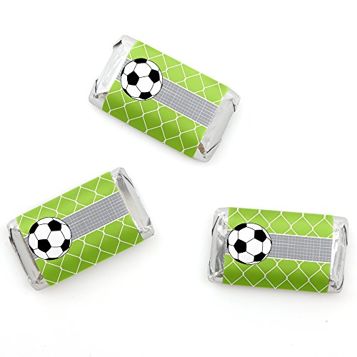 Feet Bar Candy (GOAAAL! - Soccer - Mini Candy Bar Wrappers Baby Shower or Birthday Party Favors - 20 Count)