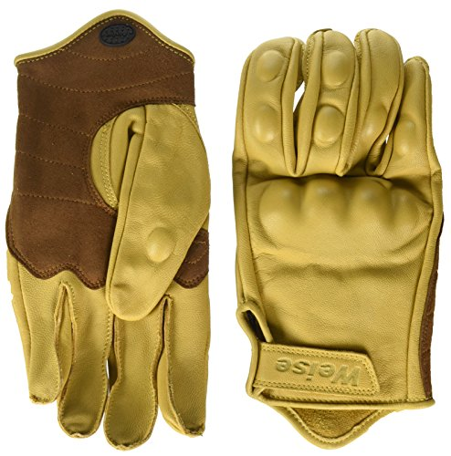 - WEISE unisex-adult Leather Victory Motorcycle Glove(Tan,Large)