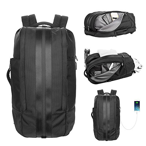 LA PAIX Gym Laptop Backpack Duffel Travel Bag Luggage Separate shoes Latop comparment USB charing port Water (Fujitsu Travel Bag)