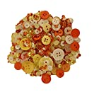 Buttons Galore Candy Corn Scrapbook Embellishment Bottle