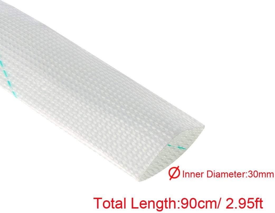1-3//16 inch uxcell 5pcs Fiberglass Heat Shield Sleeve 30mm ID x 3ft Adjustable High Temp Shield Sleeving Pipe