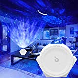 Star Projector, Smart Version 3 in 1 Galaxy Projector, Titita Ocean Wave/Moon/Star Sky Lite Light Projector with Timer, Touch, Smart App and Voice Control, Starry Night Light Projector for Kids Baby Birthday Gifts/Party/Bedroom Decor White