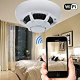 HD 1080p Spy IP Camera Smoke Detector Mini DV DVR WIFIMotion Detection Nanny Cam