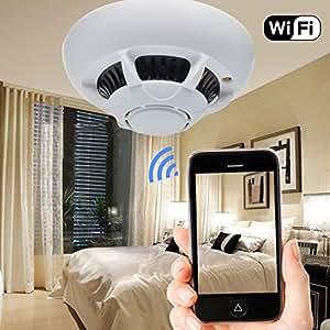 HD 1080p Spy IP Camera Smoke Detector Mini DV DVR WIFIMotion Detection Nanny Cam