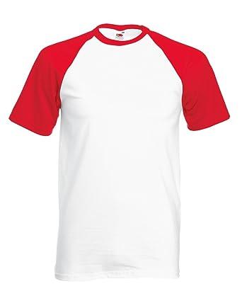 9a4d05f3156 Fruit of the Loom Men's Short-Sleeve Baseball T Shirt