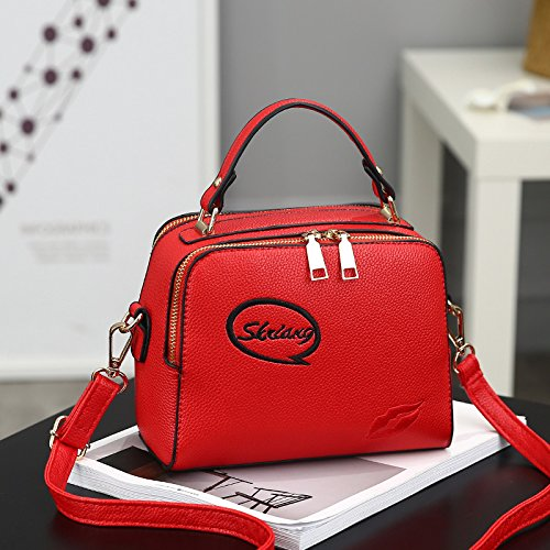 Ocio XWAN de Xiekua moda Bolso goma Bolso gules rojo Paquete nueva wInB1I8qr