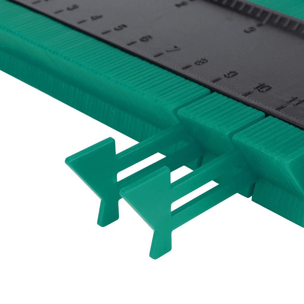 Ohbiger Contour Gauge,Profile Gauge,Precisely Irregular Shape Duplicator,Measure Ruler Contour Duplicator for Precise Measurement Tiling Laminate Wood Marking Tool