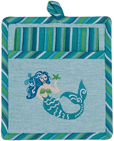 Kay Dee Designs Mermaid Embroidered 2pc Kitchen Gift Set No R6397