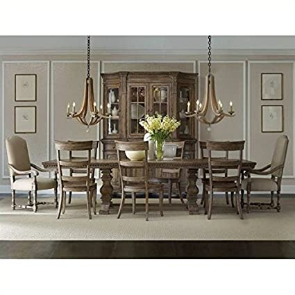 Hooker Furniture Sorella 9 Piece Rectangle Dining Table Set In Brown