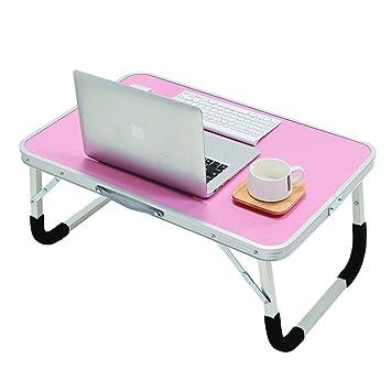 Mesa de Estudio Juvenil Mesa Plegable de la Mesa de Ordenador portátil Mesa Plegable Estudiante pequeña Mesa Plegable (Rosa) Mesa de Estudio Infantil: ...