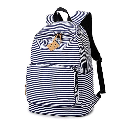 Fashion School Canvas Middle Student Leisure Travel Nosterappou Ladies Backpack Striped BWrdoQCxEe